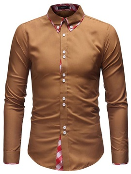 Lapel Button Down Slim Men's Casual Shirt