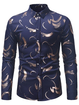 Unique Print Slim Fit Men's Fashion Shirt