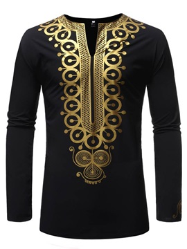V-Neck Dashiki Print Men's Fashion Shirt