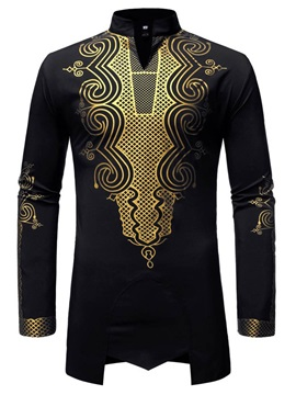Dashiki Stand Collar African Fashion Men's Shirt