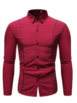 Lapel Casual Slim Men's Shirt