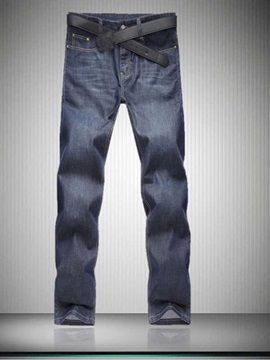 Loose Fit Straight Leg Men's Jean