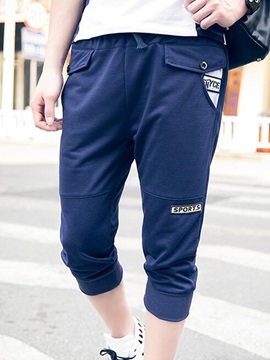 Loose Fit Letter Printed Men's Casual Pants