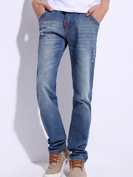 Medium Wash Straight Men's Jeans