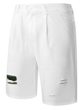 Patch Men's Solid Color Shorts
