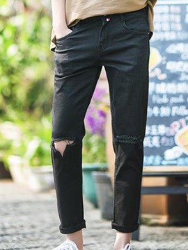 Men's Jeans with Hole Pockets