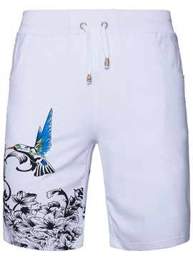 Lace-up Knee Length Floral Men's Pants
