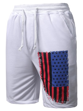 National Flag Print Lace-up Men's Short