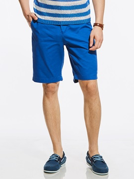 Tidebuy Plain Straight Loose Men's Casual Shorts