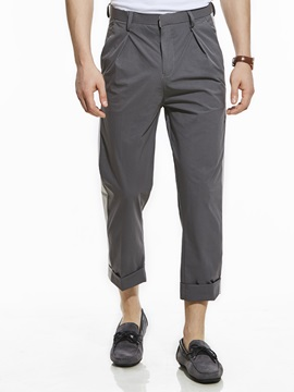 Color Block Straight Men's Casual Pants