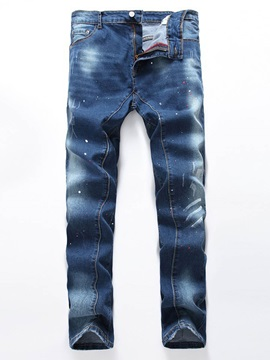 Elastic Denim Haren Straight Baggy Fit Men's Jean