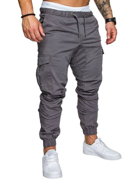 Tidebuy Plain Cotton Men's Casual Pants