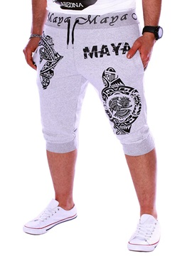 Tidebuy Letter Print Men's Sports Casual Pants