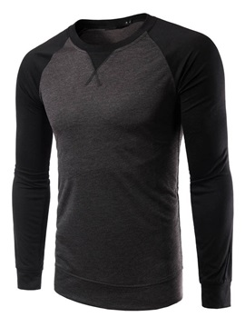 Crew Neck Color Block Slim Fit Men's Tee