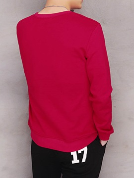 Letter Printed Crew Neck Men's Pullover Tee