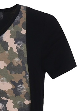 Camouflage Double-Layer Men's V-Neck Tee