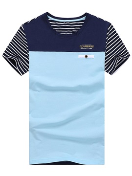 Striped Men's Two-tone T-shirt