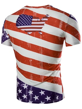 Flag Printed Men's Short Sleeve T-shirt