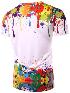 Paint Splatters Men's Cotton Blends Tee