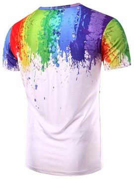 Paint Splatters Casual Men's Tee
