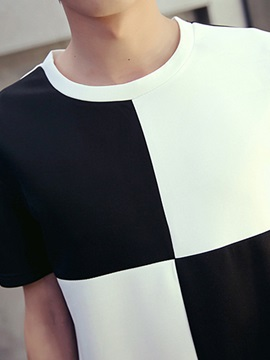 Two-tone Men's Simple T-shirt