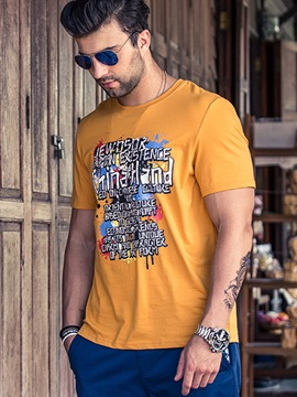 Relaxed Fit Loose Fit Men's Crew Neck Tee