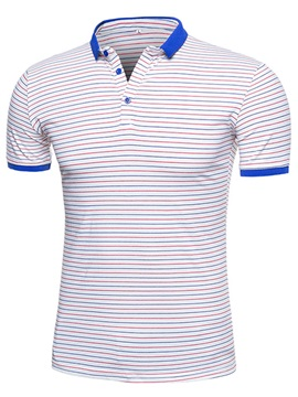 Stripe Slim Standard Men's Fashion Polos