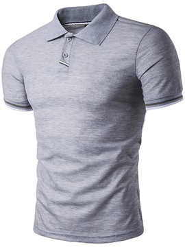 Slim Simple Lapel Men's Casual T-shirt