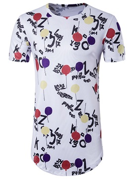 Mid-length Hip Pop Style Men's T-shirt