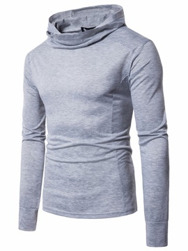 Tidebuy Hooded Solid Color Slim Men's Hoodie