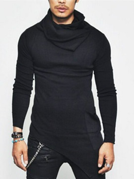 Tidebuy Heap Collar Slim Long Sleeve Men's T-Shirt