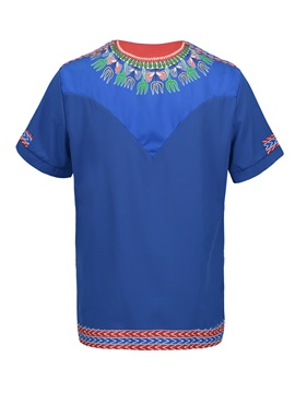 Tidebuy Dashiki African Print Short Sleeve Men's T-Shirt