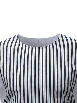 Tidebuy Stripe White Men's Stylish Long Sleeve T-Shirt