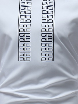 Dashiki African Simple Print Men's Long White Tee