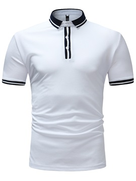 Tidebuy Plain Slim Fit Men's Casual Polo