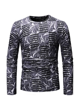 Casual Round Neck Long Sleeve Men