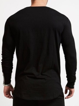 Color Block  Long Sleeve Men's T-shirt