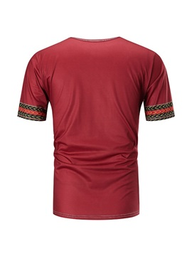 Dashiki Print Short Sleeve African Fashion Men's T-Shirt