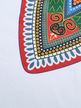 Color Block Dashiki Print Men's T-shirt