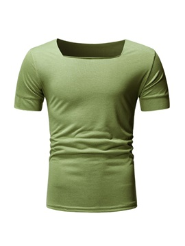 Casual Plain Short Sleeve Men's T-Shirt