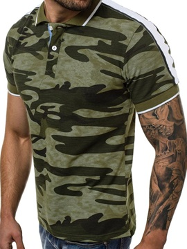 Camouflage Button Summer Soft Men's Polo