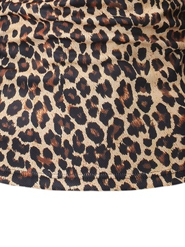 Leopard Button Slim Fit Men's Polo