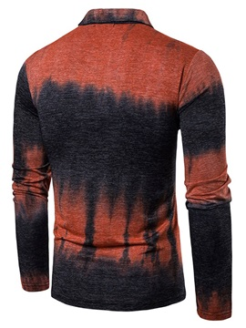 Color Block OL Polo Neck Men's Polo Shirt