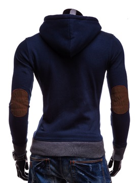 Men's Thicken Hooded Pullover Horn Button Sherpa Lined Hoodies