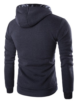 Letter Printed Lace Up Men's Hoodie with Hat