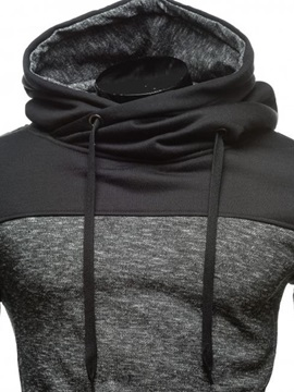 Patchwork Pullover Casual Men's Hoodie