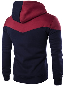 Contrast Color Hat Men's Hoodie