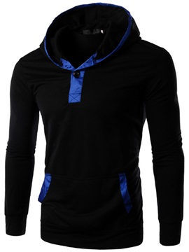 Solid Color Men's Pullover Hoodie