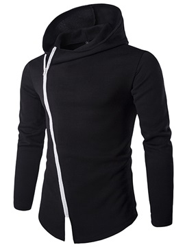Zipper Cotton Blends Men's Causal Hoodie