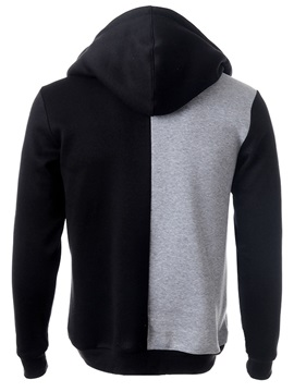 Patchwork Cotton Blends Men's Casual Hoodie